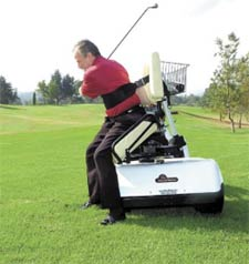 Specially designed cart allows golfers with ailments, disabilities on single rider golf car, single passenger golf carts, solo rider golf carts,
