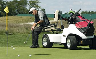 Specially designed carts mean mobility no longer a problem for ... on single passenger golf carts, single rider golf car, solo rider golf carts,